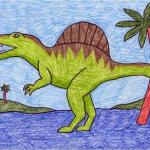 تعلم رسم الديناصور
