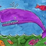 تعلم رسم حوت وأسماك