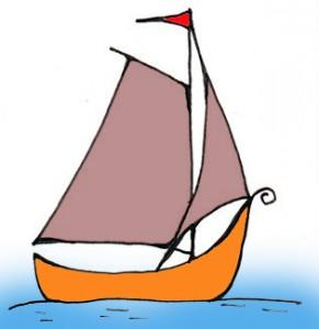 تعلم رسم قارب في البحر