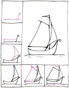 تعلم رسم قارب