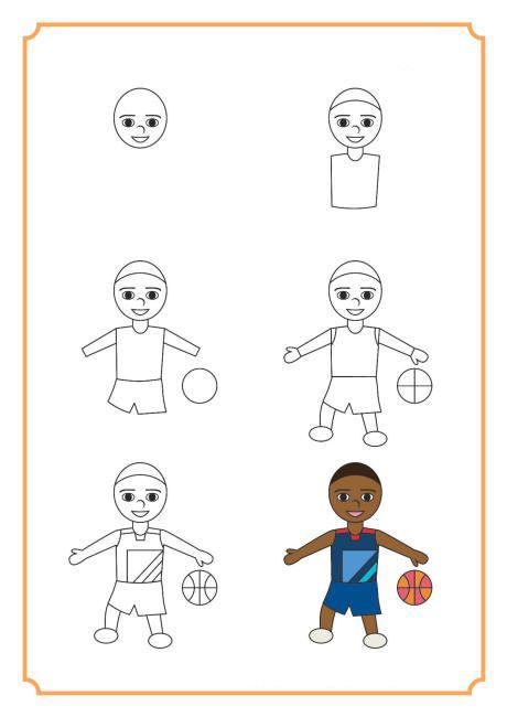 تعلم رسم لاعب كرة سلة