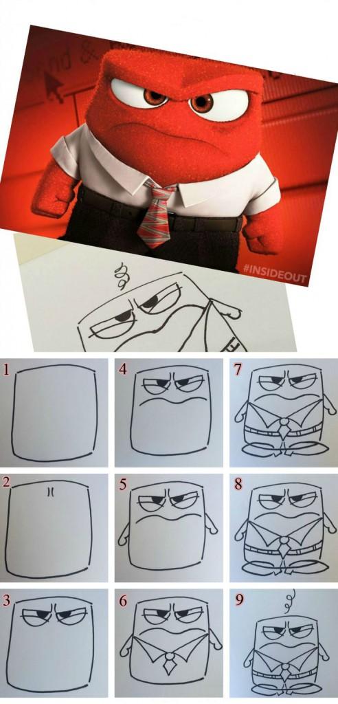 كيفية رسم anger من inside out