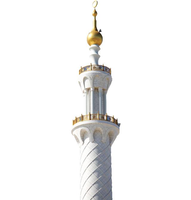 تعليم رسم مئذنة مسجد خطوة بخطوة