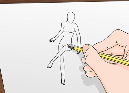 تعليم رسم جسم فتاة