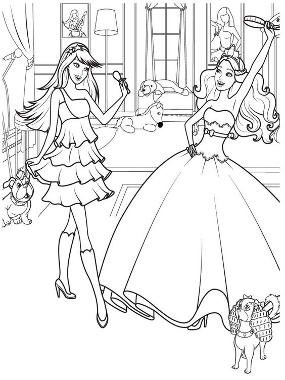 for Barbie and the diamond castle coloring pages