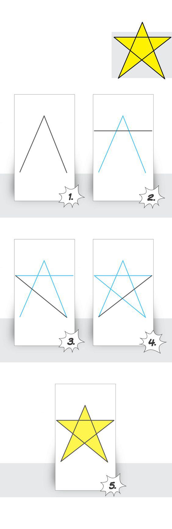 كيف ارسم نجمه