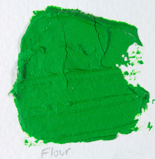 Mixing flour with acrylic paint causes cracking.