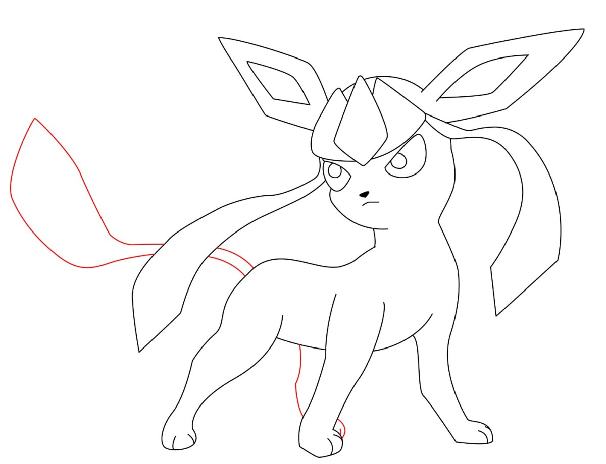 How To Draw Glaceon (10)