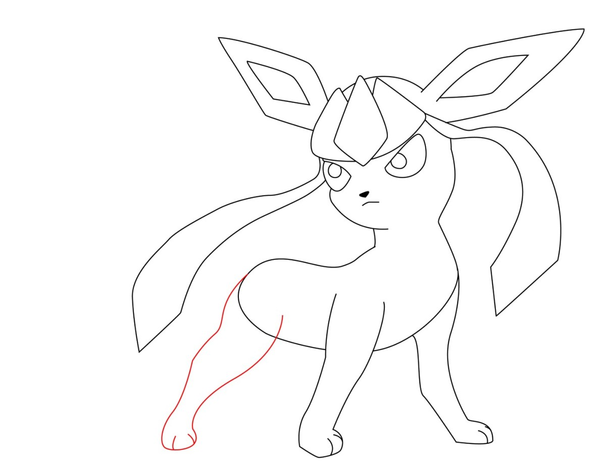 How To Draw Glaceon (9)