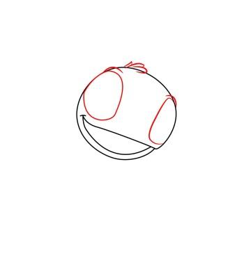 How to draw Stitch step 1