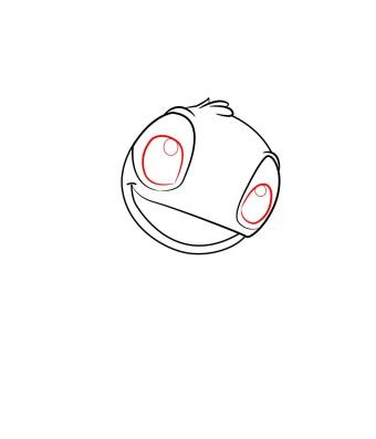 How to draw Stitch step 2