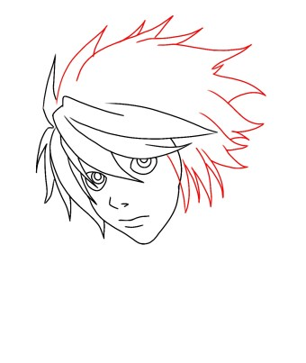 How To Draw L From Death Note Step 7