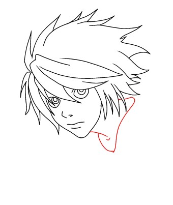 How To Draw L From Death Note Step 8