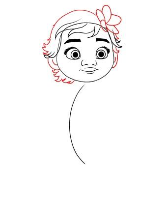 How To Draw Baby Moana Step 7