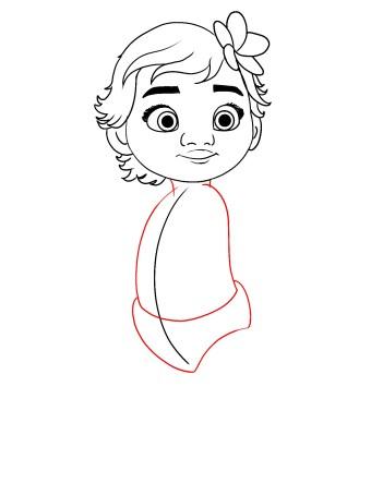 How To Draw Baby Moana Step 8