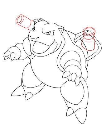 How To Draw Blastoise Step 10