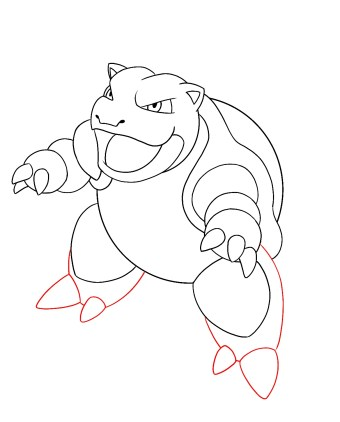 How To Draw Blastoise Step 8
