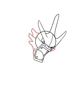 How To Draw Gyarados Step 5