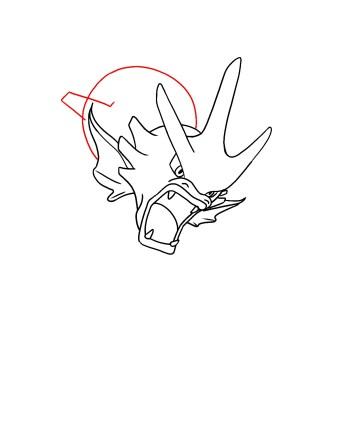 How To Draw Gyarados Step 7