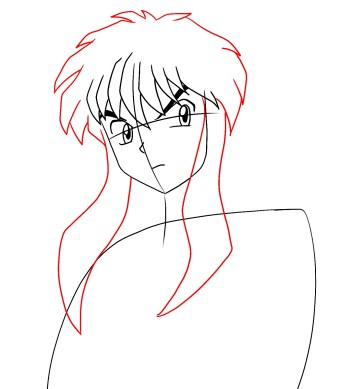 How To Draw Inuyasha Step 5