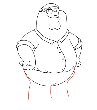 How To Draw Peter Griffin Step 11
