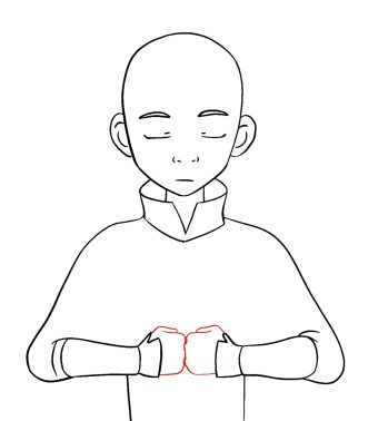 How To Draw Aang Avatar Step 9
