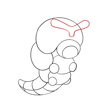 How To Draw Caterpie Step 6