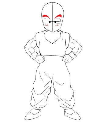 How To Draw Krillin Step 11