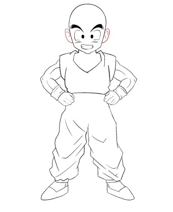 How To Draw Krillin Step 13