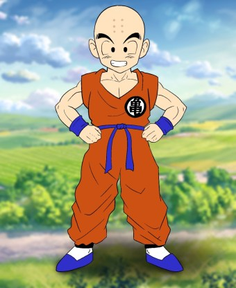 How To Draw Krillin Step 14