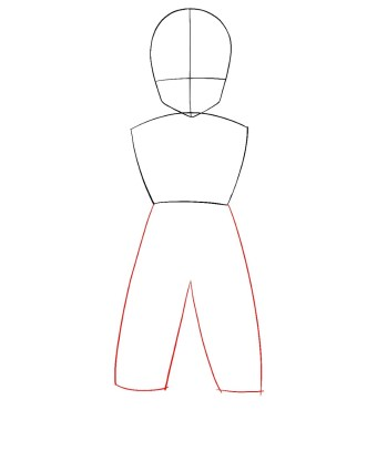 How To Draw Krillin Step 2