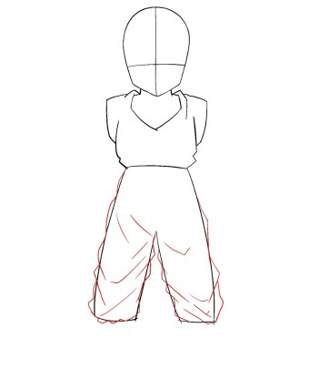 How To Draw Krillin Step 4