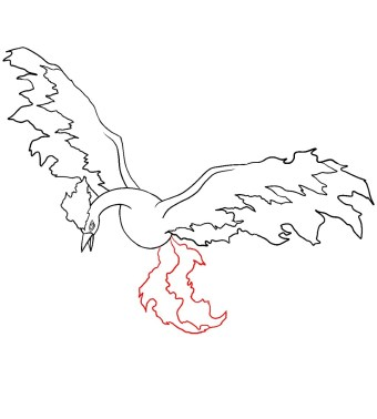 How To Draw Moltres Step 7