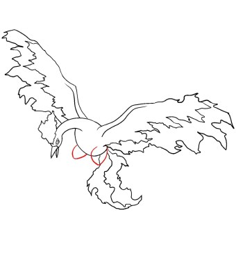 How To Draw Moltres Step 8