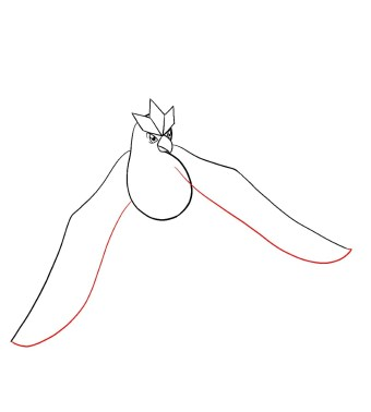 How To Draw Articuno Step 7