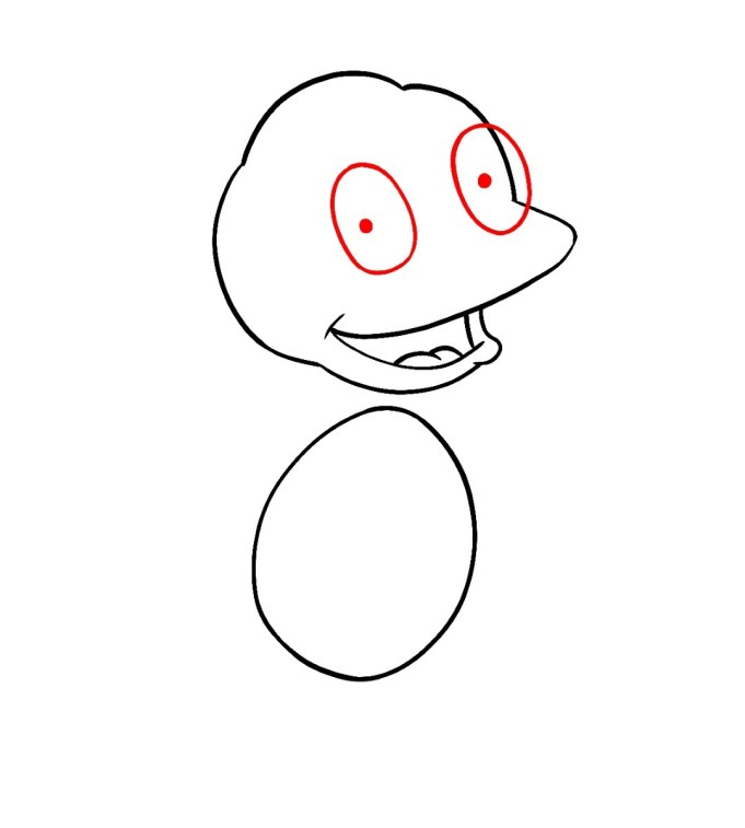 How To Draw Tommy Pickles Rugrats Step 4