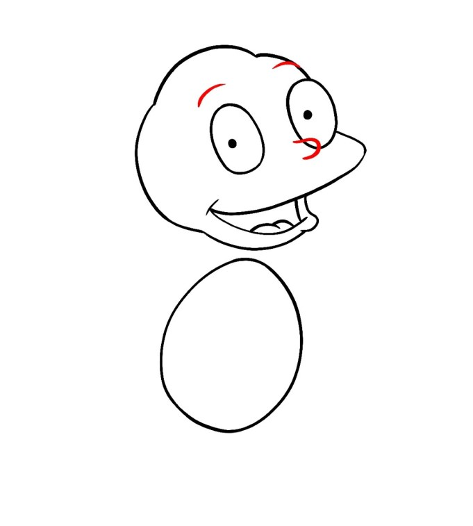 How To Draw Tommy Pickles Rugrats Step 5