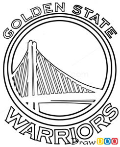 how to draw golden state warriors basketball