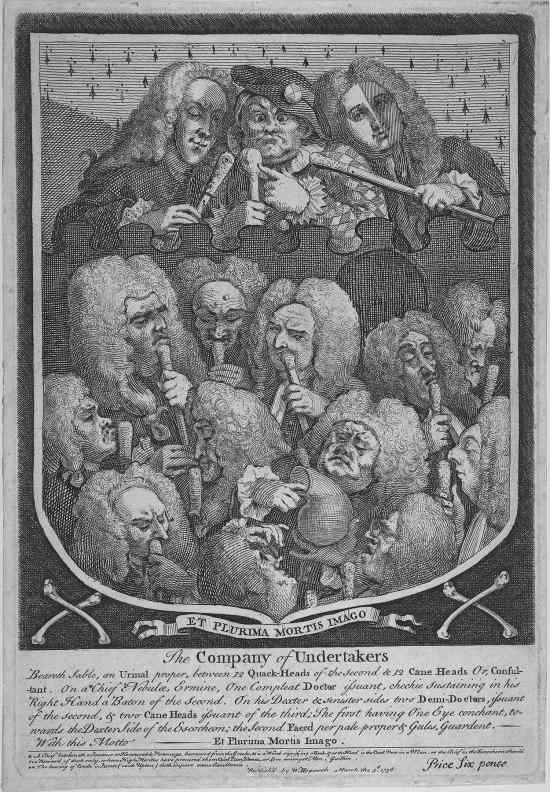 Fig. 14:  Hogarth, The Company of Undertakers (1736)