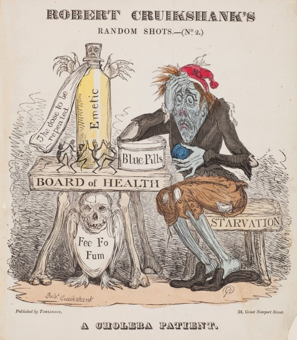Robert Cruikshank, <i>Random Shots no. 2: A Cholera Patient</i>, (1832), Courtesy of the Harvey Cushing and John Hay Whitney Medical Library