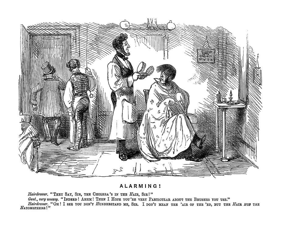 Alarming! John Leech, Punch, April 3, 1852