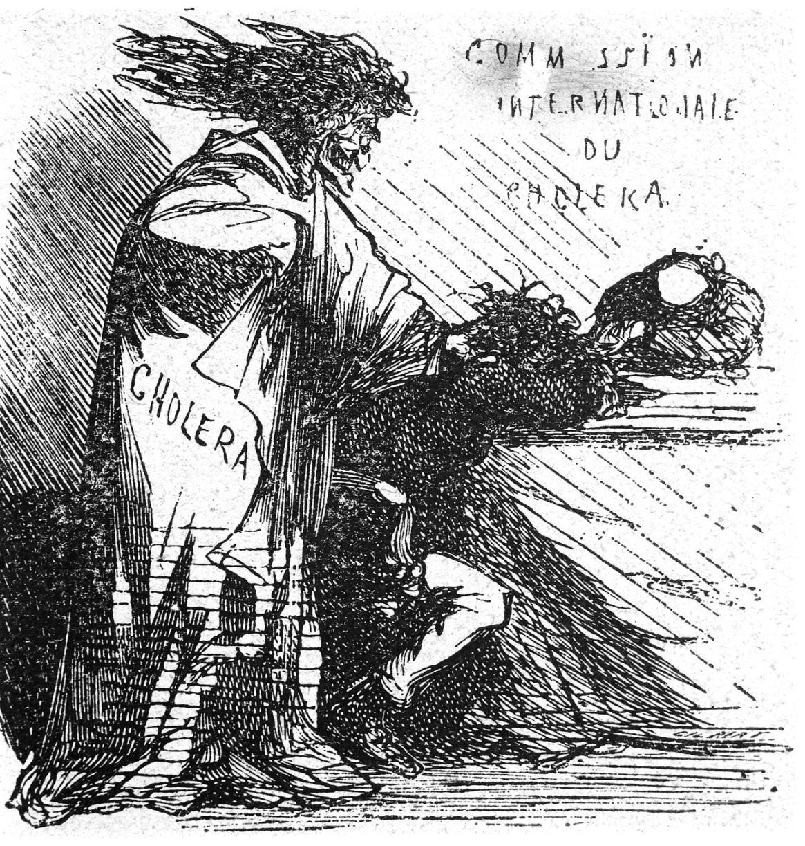 Cham, Illustration representing Cholera