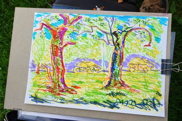 Mindful tree drawings at Kelvingrove
