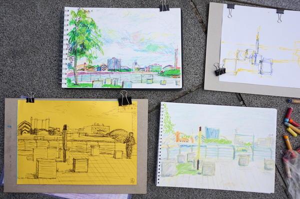 Summer fun creative drawings in Glasgow