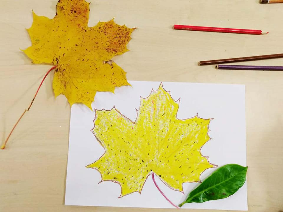 Exploring autumn with collage