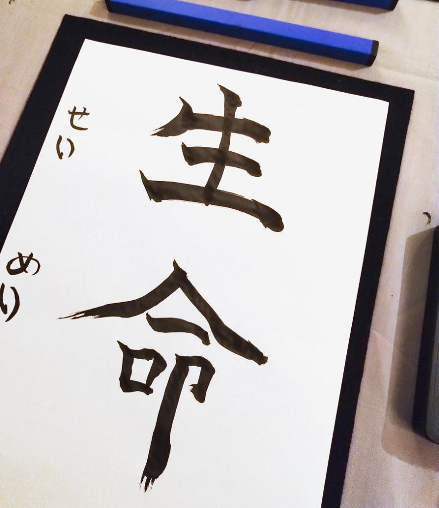 生命 - life springing up with shodo calligraphy