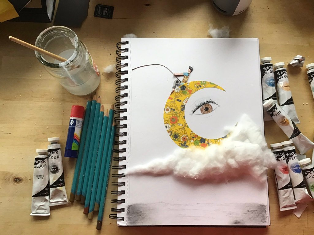 Creative Time – looking up for the crescent moon