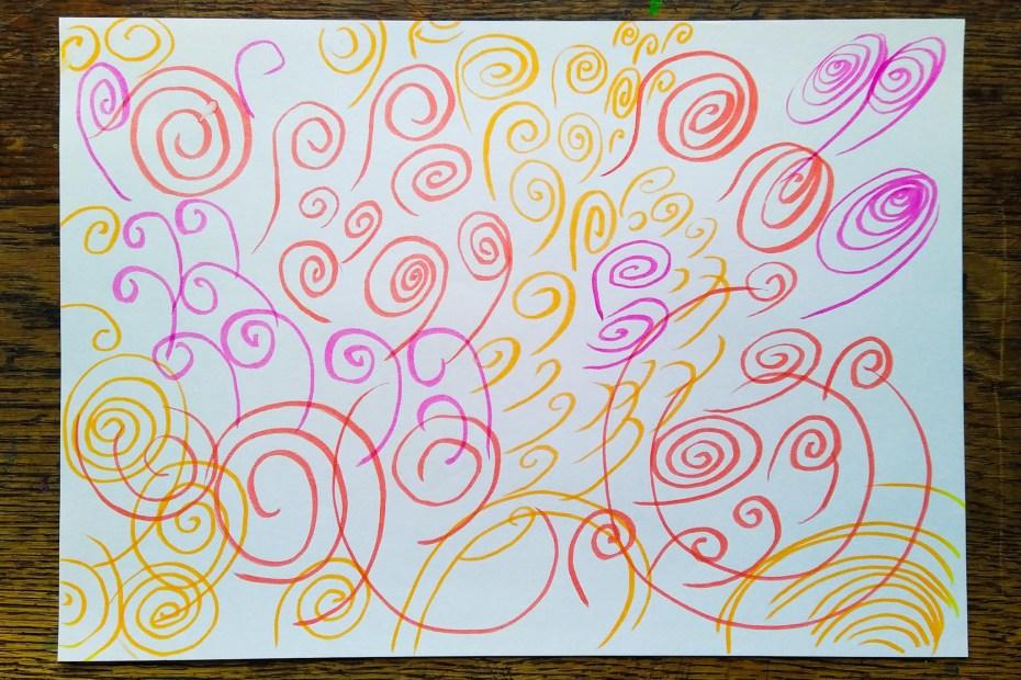 Creative Time - colourful swirls