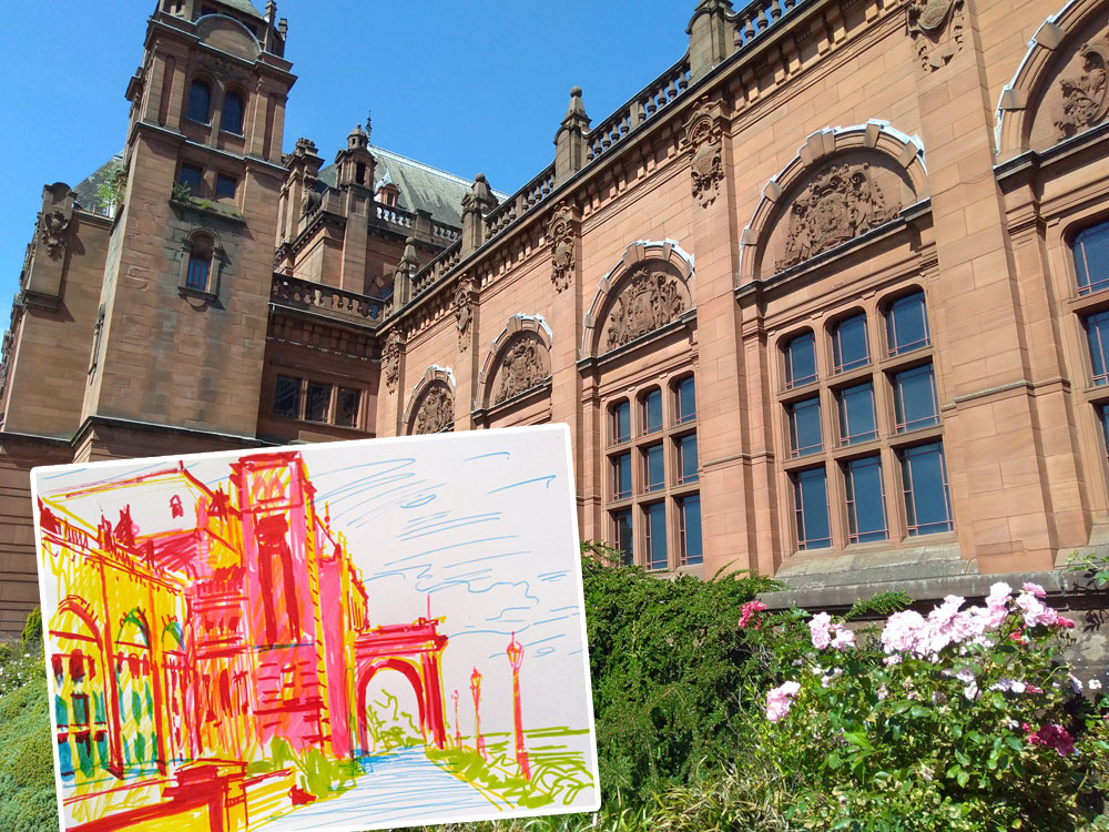 Drawing Outside – Kelvingrove Museum