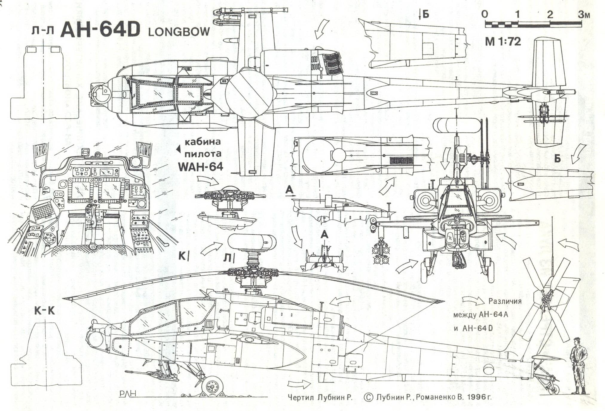Boeing Ah 64 Apache Blueprint
